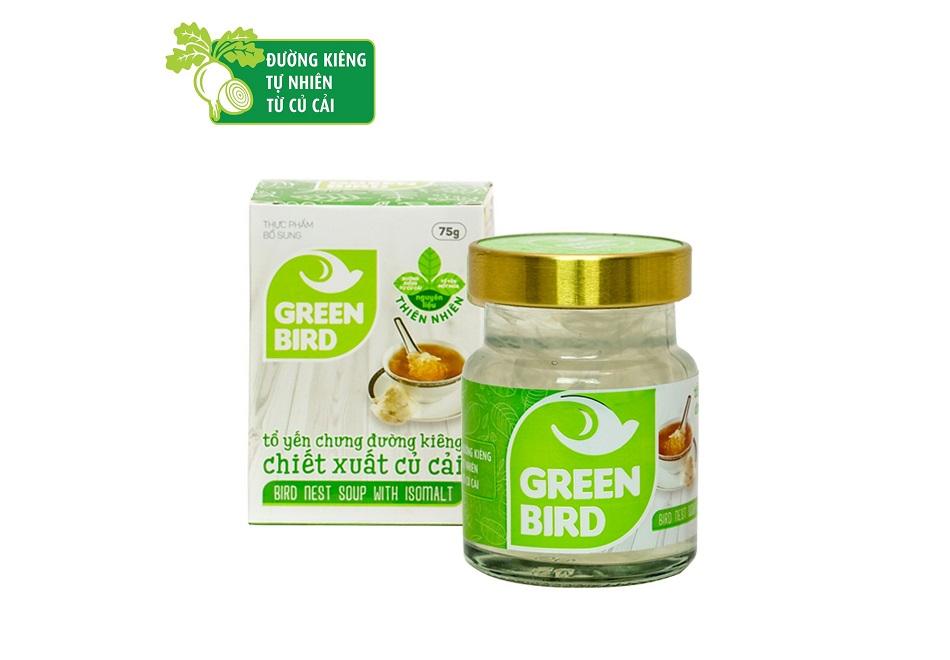Nước yến chưng đường ăn kiêng Green Bird - hũ đơn 75gr