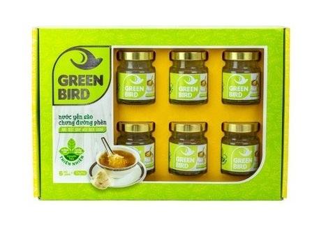 SP Organic - Nước Yến chưng đường phèn Green Bird Hộp Qùa 6 Hũ 72GR