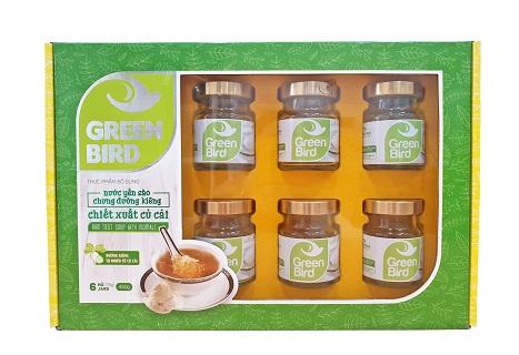 Quà tặng nước yến chưng đường củ cải Green Bird  - 6 hũ 75gr
